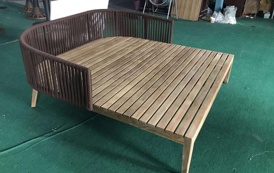Bàn ghế gỗ teak - BGGT-0007